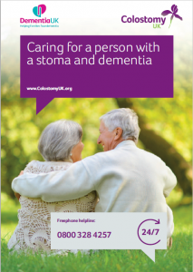 Front cover - Caring for a person with a stoma and dementia