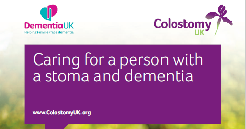 Front cover - Caring for a person with a stoma and dementia 4