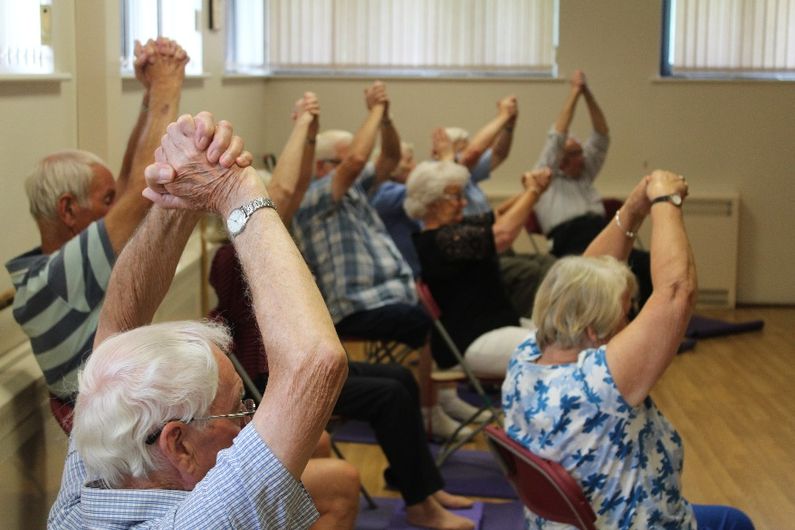 'Active Ostomates' chair yoga reaches Hampshire