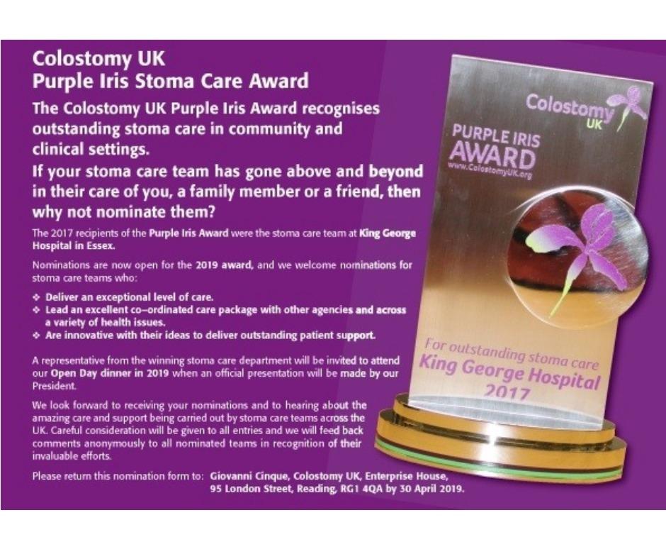 Nominate your Purple Iris award winner