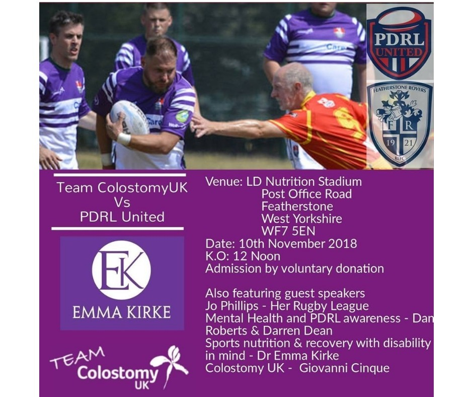 Team Colostomy UK to take on PDRL United