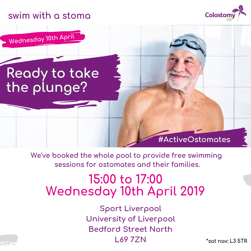 Swim with a stoma: free liverpool sessions