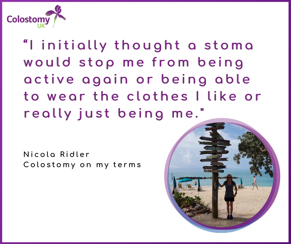 Nicola Ridler: Colostomy on my terms