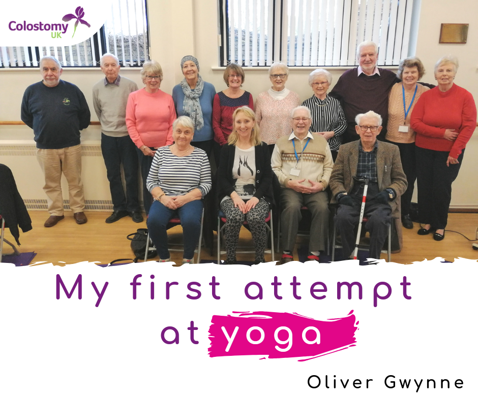 colostomy uk: my first attempt at yoga