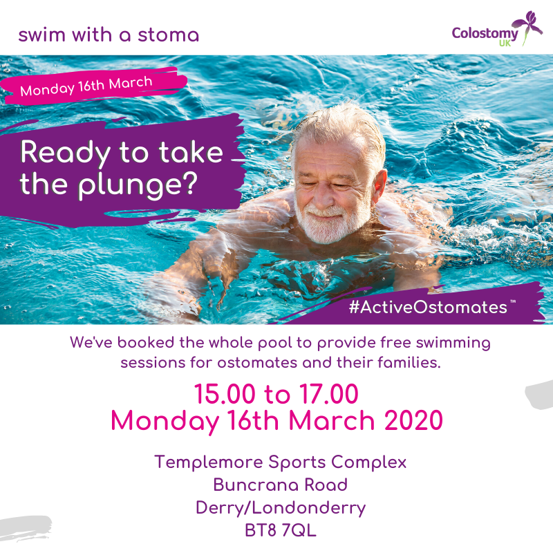 Take the plunge and swim with Colostomy UK