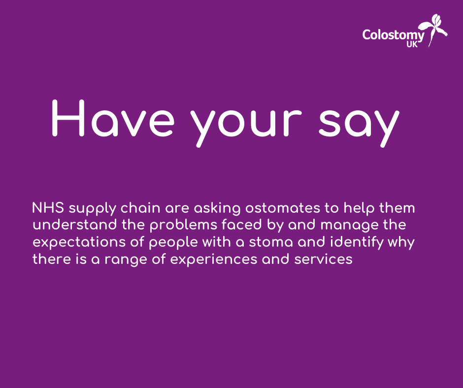 Have your say on the future of Stoma care pathways