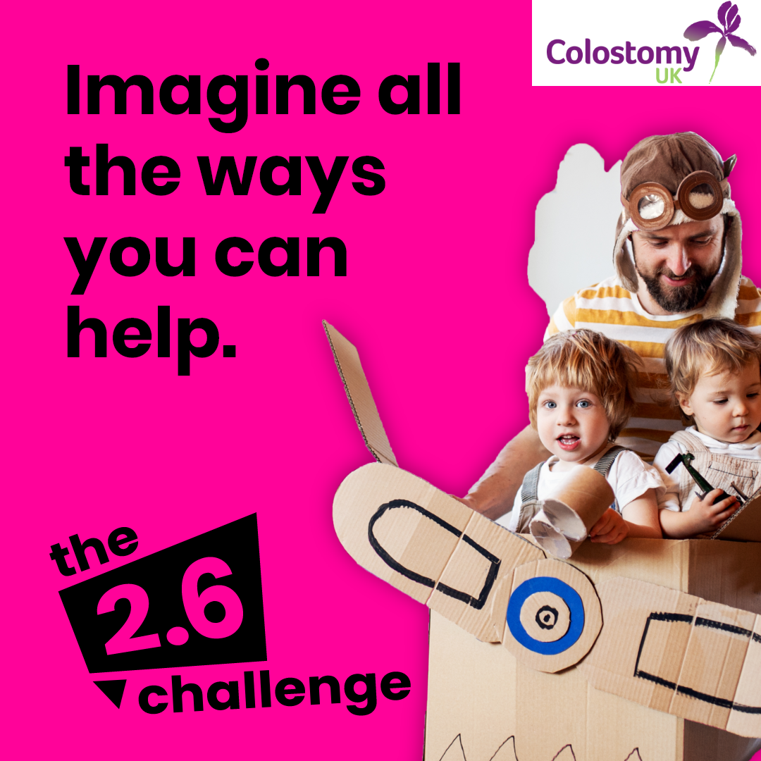 Join Colostomy UK in the 2.6 Challenge