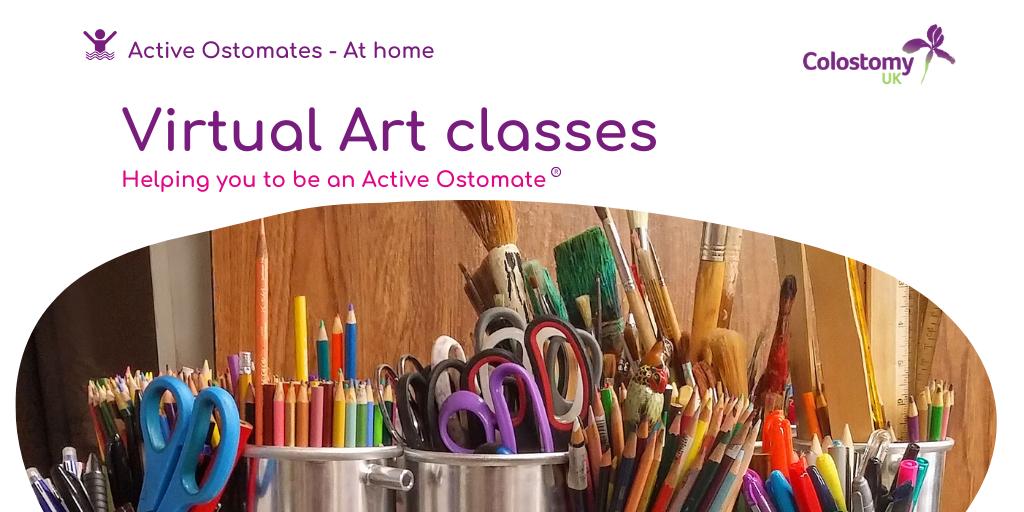Active Ostomates: at home. Virtual Art Classes