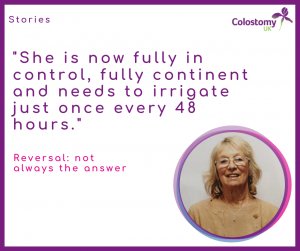 Colostomy UK: reversal not always the answer